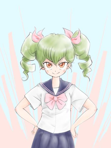 安斎千代美さん15歳