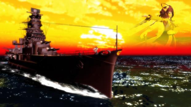 【MMD艦これ】リテイク版「この歌で、提督のハートを掴むデース!」静止画1