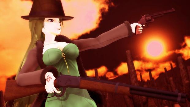 西部劇の「やっぱこれだね!」が手に入った玲霞さん【Fate/MMD】