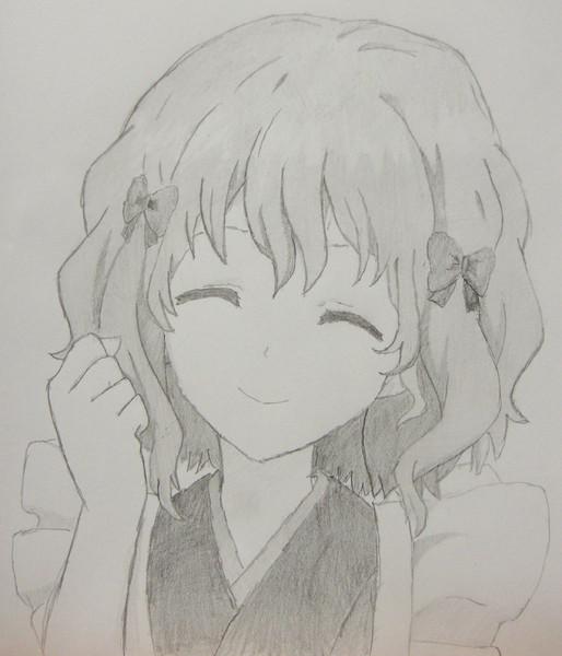 緒花を鉛筆一本で描いてみた^^