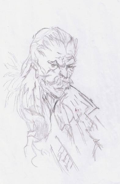 数年前に描いたオセロット