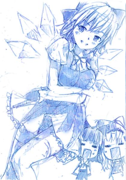 【ラフ】「やっぱりアタイさいきょーo(*≧д≦)o″!」