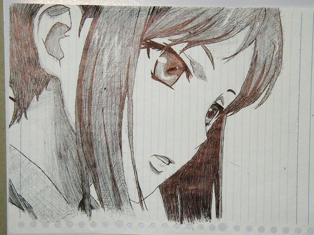 また、アナログ(ボールペン)で描き写してみました。