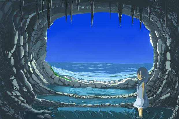 海の洞窟 アゾーマ さんのイラスト ニコニコ静画 イラスト