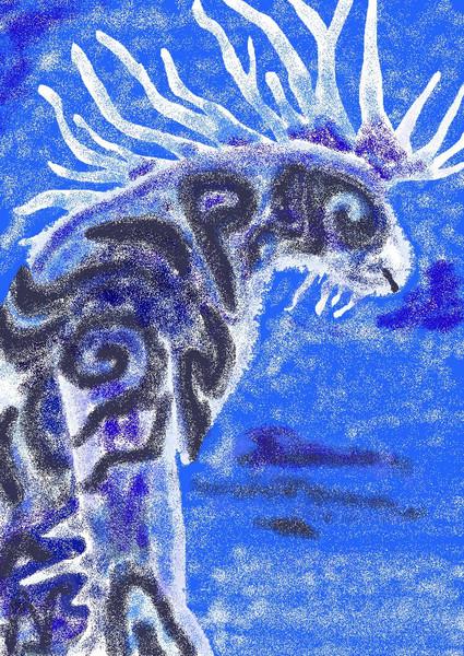 ペイント+マウスで描いてみた
