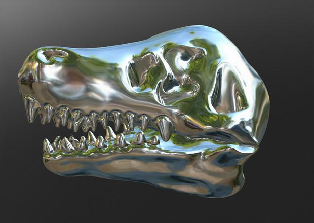 スカルプトリス ティラノサウルス頭骨