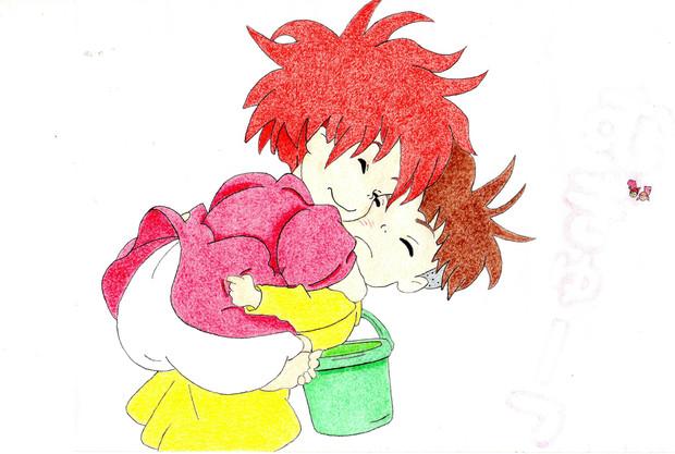 今はなき友人の描いたシリーズ 2 ぽにょそーすけすき Naru さん