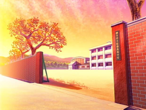 放課後の校門