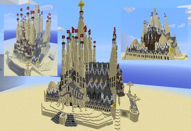 Minecraft サグラダファミリア 完成版 Nibishi さんのイラスト ニコニコ静画 イラスト