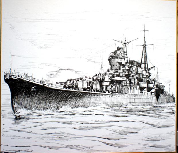 艦艇色紙_最上型軽巡洋艦