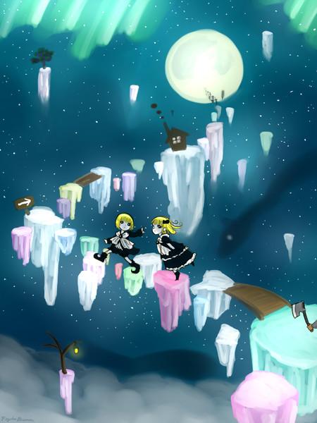 月に逃げる双子