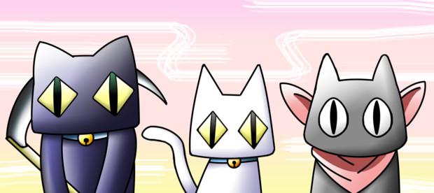 似ているネコ(?)三匹