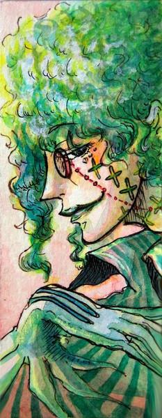 導化なるパーティー前夜  緑髪の片眼鏡