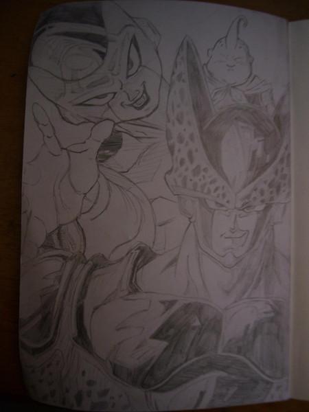 セル・フリーザ・ブウを描いてみた