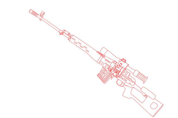 【トレス】ドラグノフ狙撃銃