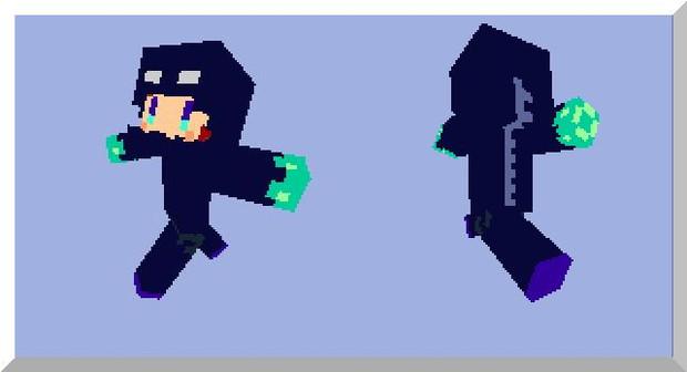 FF8 スコールのエンダーマンVer. minecraft用スキン(エディタ画像)