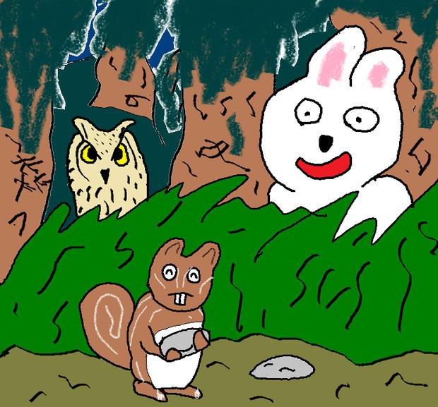 森の中の出来事