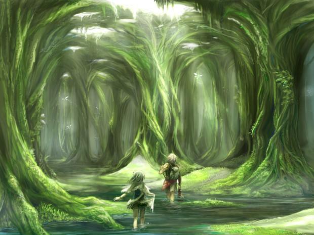 森をわたる よつば さんのイラスト ニコニコ静画 イラスト