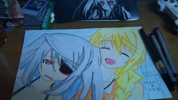 友達に描いてといわれて描いてみたw シャルル&ラウラ