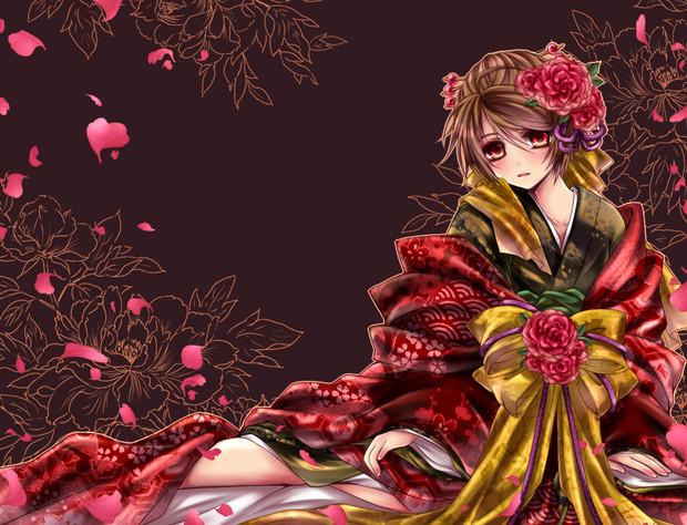 花魁みたいな感じの アステル さんのイラスト ニコニコ静画 イラスト