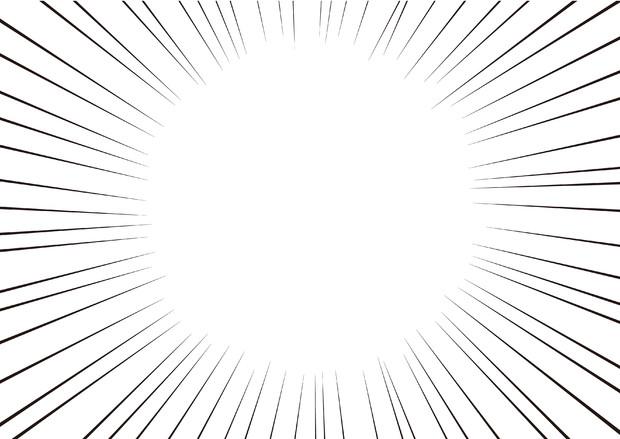 【背景素材120】集中線2