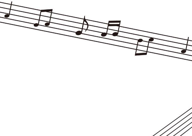 【背景素材130】音符1