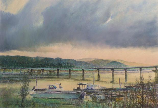 紀の川一銭橋跡