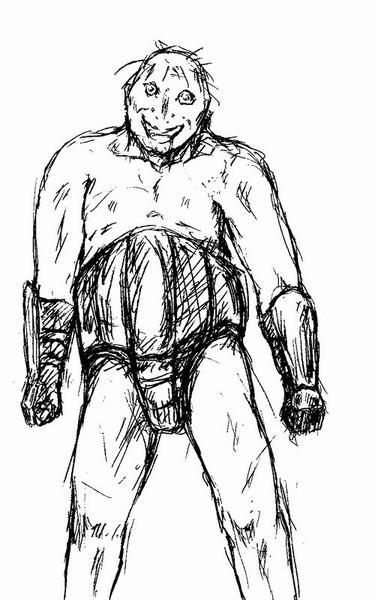 【自作ゲーム】Pygmalion 未使用デザイン 巨躯の狂人