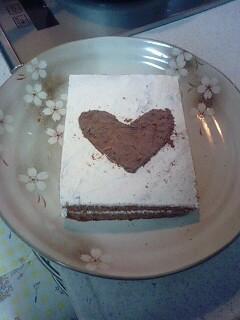 ハートのケーキ~ココアスポンジ版~