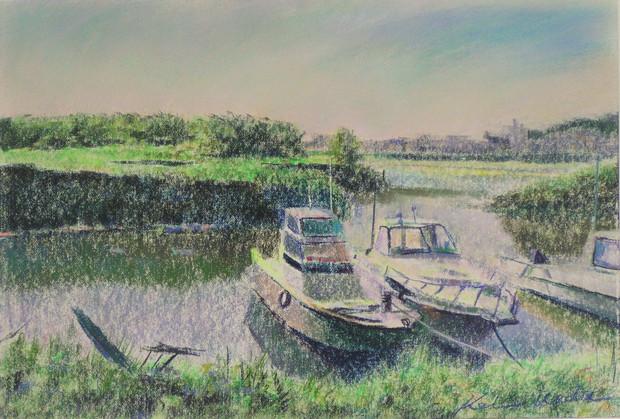 河口の係船場
