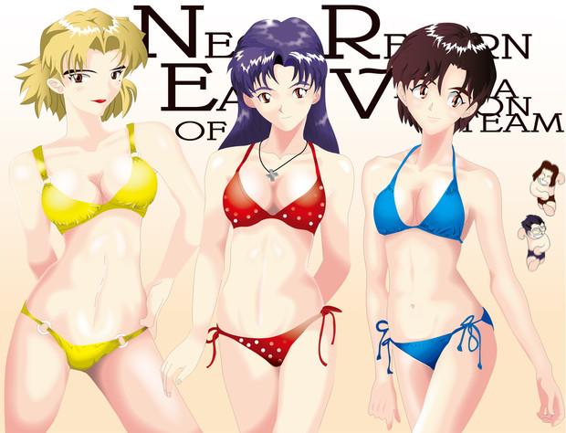 エヴァ3人娘。描いてみたー♪2