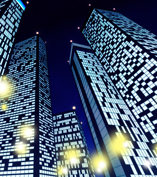 夜のビル群 黒崎 さんのイラスト ニコニコ静画 イラスト