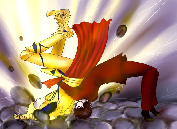 英雄王 怒りを鎮め 撤退を