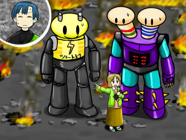 マジンガーNANO「誰ですか!?学校に悪いロボット持って来た人は!」