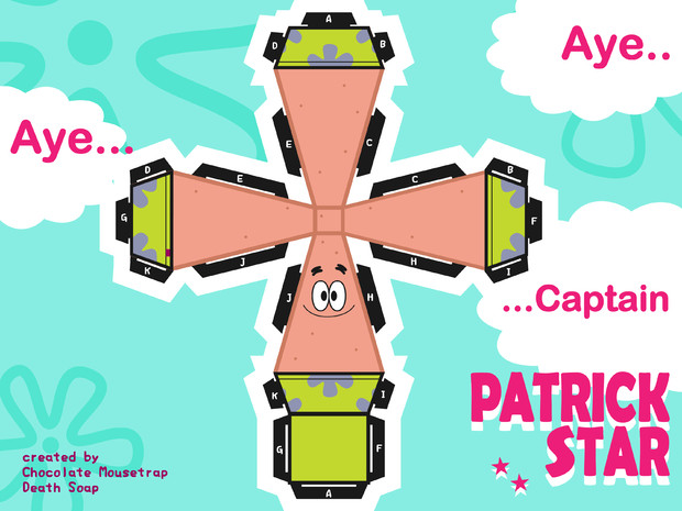 Paper craft of Patrick Star