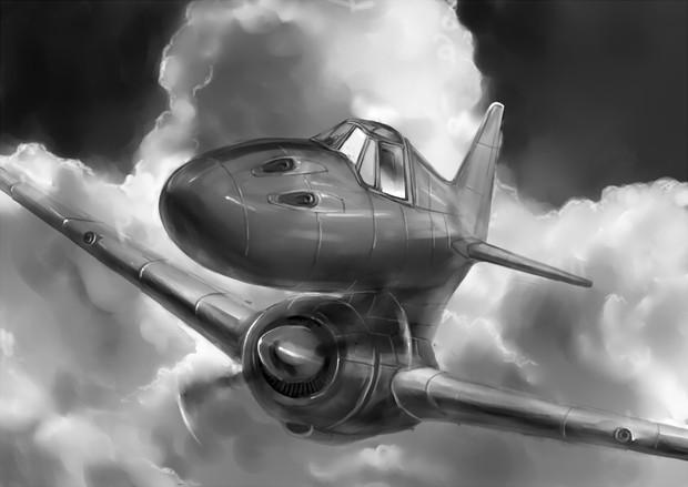 エンジンを履いた戦闘機