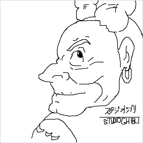 mixiの記憶スケッチでドーラ描いた