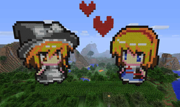 マイクラ 魔理沙とアリス