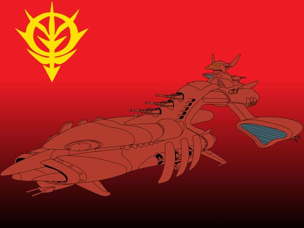 MUSAI ムサイ後期型(シーマ艦隊用)