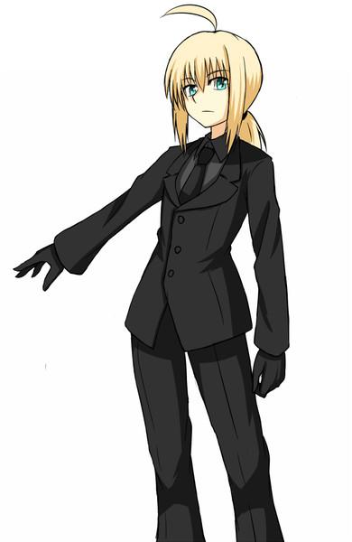 黒スーツセイバー ヒチ さんのイラスト ニコニコ静画 イラスト
