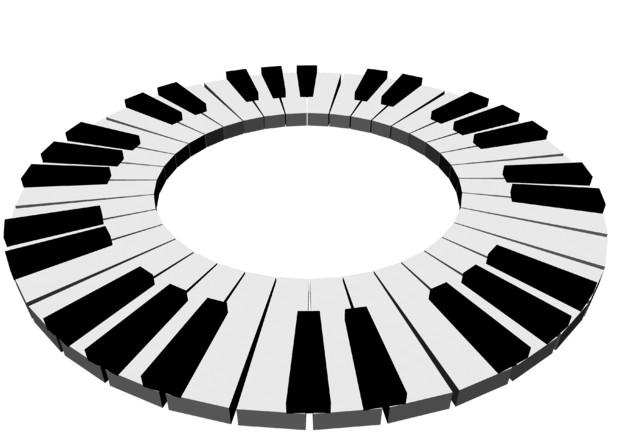 【背景素材233】鍵盤6(背景透過)