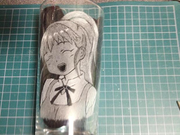 【WORKING!!】種島ぽぷらを彫ったよ!【痛グラス】