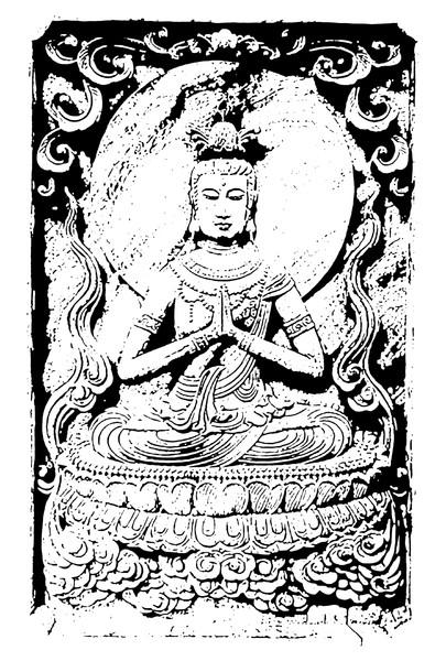 彫刻図案 供養菩薩〜念佛宗(念仏宗)無量寿寺 総本山 知りたい仏教美術