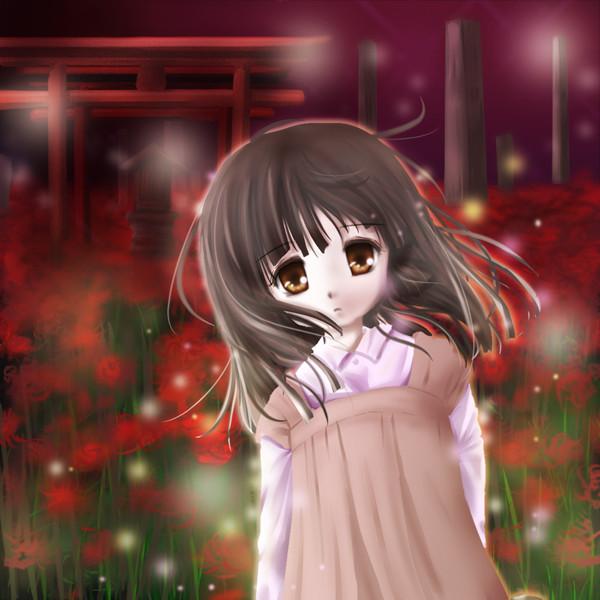 夕闇の少女
