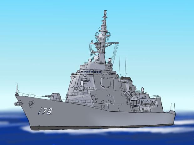 対空誘導弾搭載護衛艦あたご型 2番艦 ddgイージス護衛艦あしがら