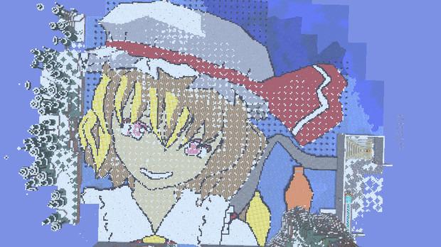 【Minecraft】マインクラフトでフランちゃんの顔作ってみた