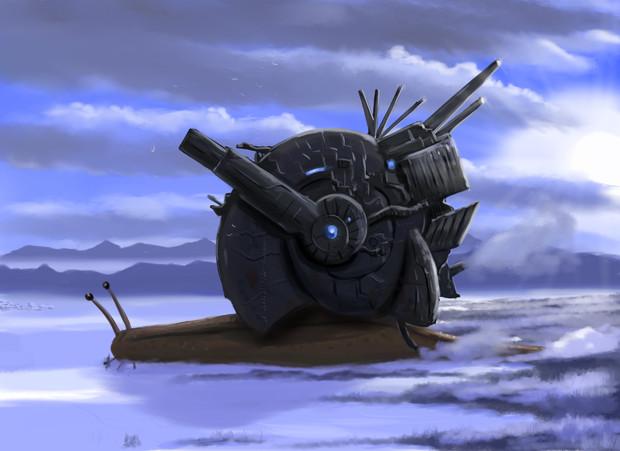 完全自己完結型独立個体軟体式装甲大口径荷電粒子自走砲蝸牛三号型改寒冷地仕様