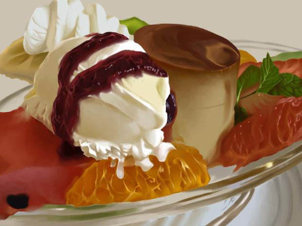 食べ物彩色模写2 At バジル さんのイラスト ニコニコ静画 イラスト
