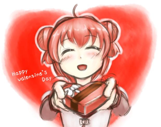 バレンタインアカリちゃん