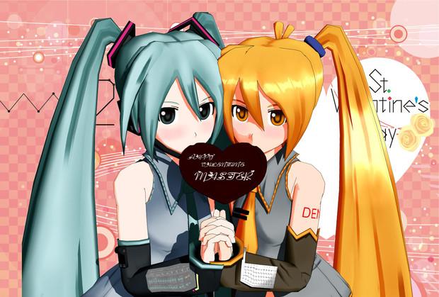 ミクとネルのバレンタインチョコ